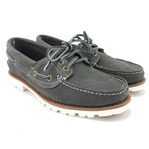 Timberland Womens Noreen Lite Grey Boat Shoes